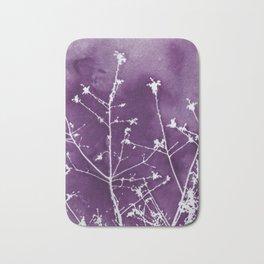 Ultra Violet Botanical Art Bath Mat