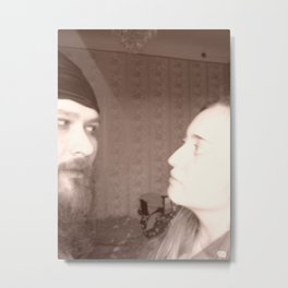 Why you look at me like at someone else? Metal Print