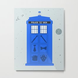 The Tardis Got Some Ink Metal Print