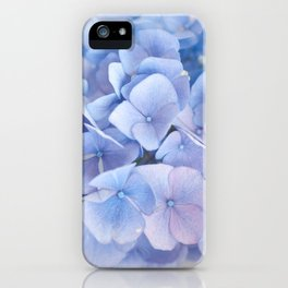 Blue Hydrangeas #3 #decor #art #society6 iPhone Case