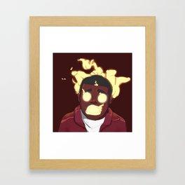 It Burns Framed Art Print