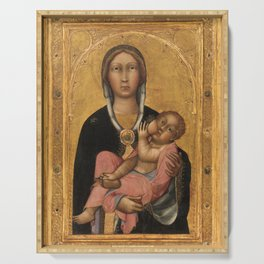 Madonna And Child 1370 Serving Tray
