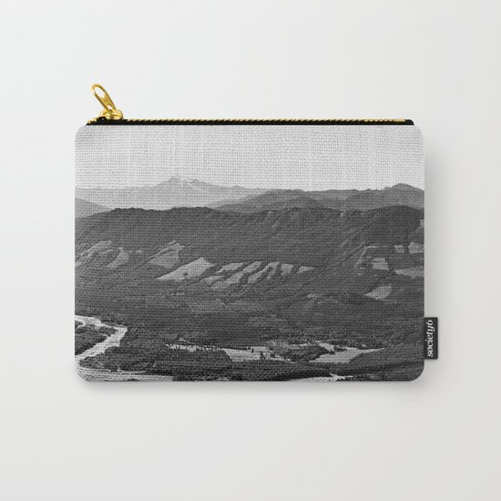 River in the Mountains B&W Carry-All Pouch
