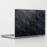 lv Laptop & iPad Skins featuring Black LV by I Love Decor