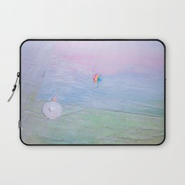 Mist on the pool Laptop Sleeve