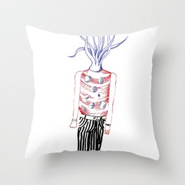 Tentacles head Throw Pillow