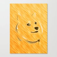 doge Canvas Prints featuring Doge by Creadoorm