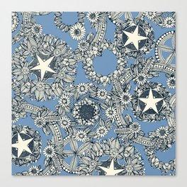 cirque fleur blue Canvas Print