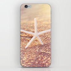golden starfish iPhone & iPod Skin