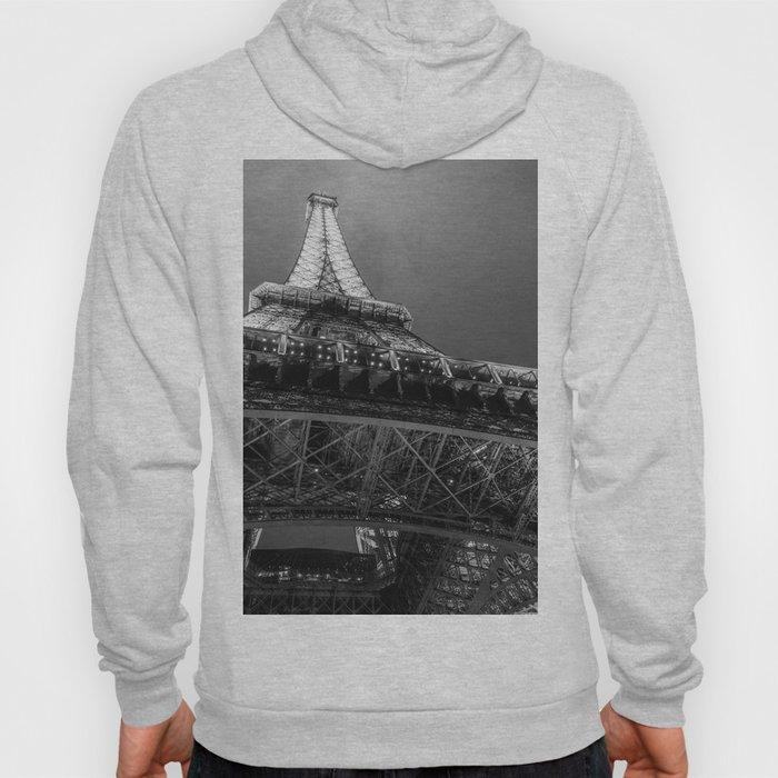 Eiffel Tower 2 (Black and White) Hoody