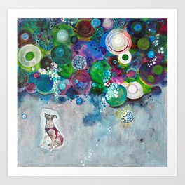 Laika, Canine Space Hero Art Print