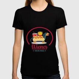 Wiener Value Meal - Cute Dachshund Design T-shirt