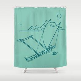 Outrigger Canoe Shower Curtain