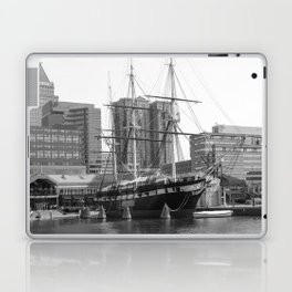 A US Frigate Ship in Baltimore, MD Laptop & iPad Skin