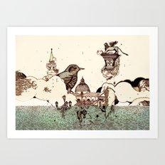 Venice Acqua alta Art Print
