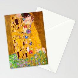 Gustav Klimt - The Kiss - Der Kuss - Vienna Secession Painting Stationery Cards