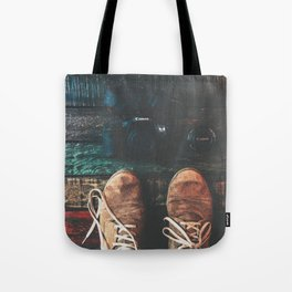 SHOES - CANON - CAMERA - PHOTOGRAPHY Tote Bag