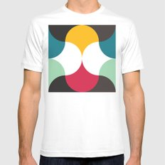 Pebbles Mens Fitted Tee MEDIUM White
