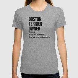 Boston Terrier Dog Funny T-shirt