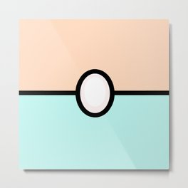 Pearl Pokeball Metal Print