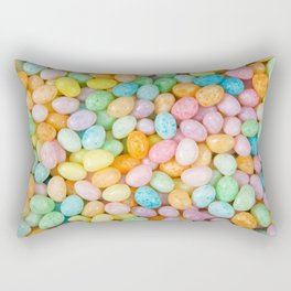 Happy Easter Speckled Jelly Beans Rectangular Pillow