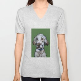 Ollie the English Setter Unisex V-Neck