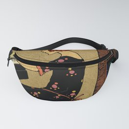 Vintage girl playing piano Fanny Pack