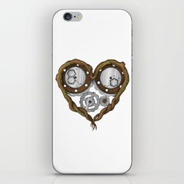 Chemistry of love: dopamine and serotonin formula (Color version) iPhone Skin