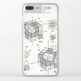 Rubik's cube old canvas Clear iPhone Case