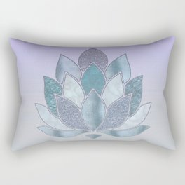 Elegant Glamorous Pastel Lotus Flower Rectangular Pillow