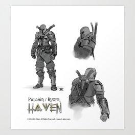 Ruger - Paladin Concept Art -Haven Book Series Art Print