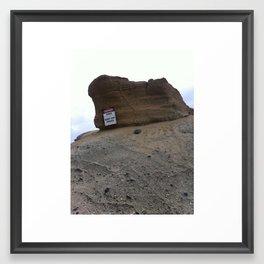 Dangerous Rocks Framed Art Print
