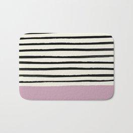 Dusty Rose & Stripes Bath Mat