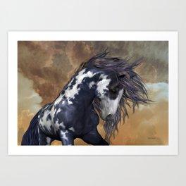 Storm, wild horse, fantasy Art Print