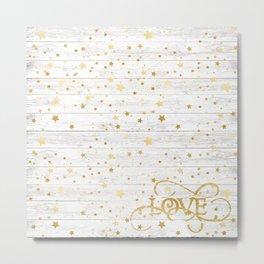 Christmas gold stars #1 Metal Print