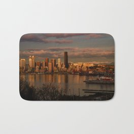 Seattle Cityscape Bath Mat
