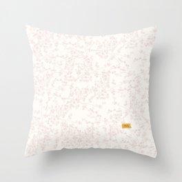 White Cherry-Blossom Throw Pillow