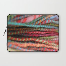 Handspun Yarn Color Pattern by robayre Laptop Sleeve