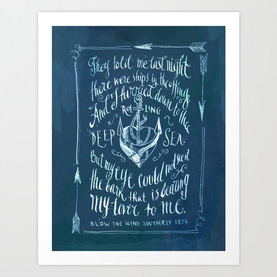 Old Sailor Song No.2 Art Print