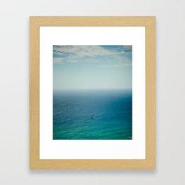 Small Sailboat, Big Ocean Framed Art Print