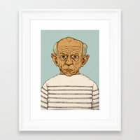 pablo picasso Framed Art Prints featuring Pablo Picasso by baldur