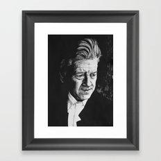 Portrait of David Lynch Framed Art Print