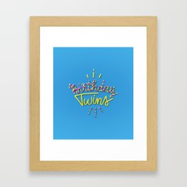 Birthday Twins Framed Art Print