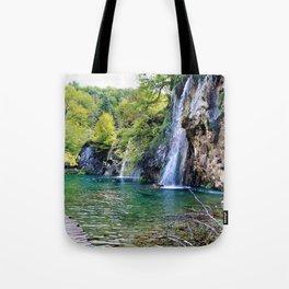 Waterfall in Croatia Large Tote Bag