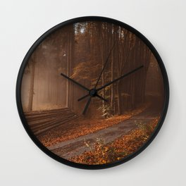 Orange beauty in common things Wall Clock