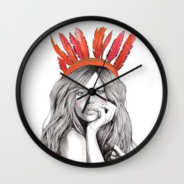 Indienne Wall Clock