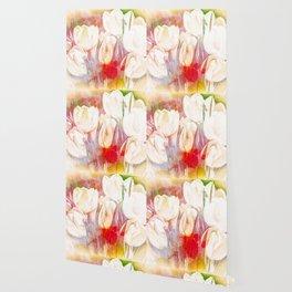 Tulip Fever Abstract Art Wallpaper