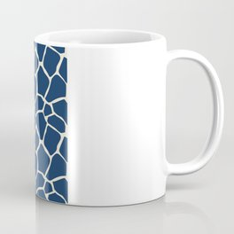 Giraffe Pattern Animal Print (navy) Coffee Mug