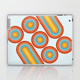 Retro Motion 2 – Orange / Yellow / Blue Abstract Stripe Pattern Laptop & iPad Skin