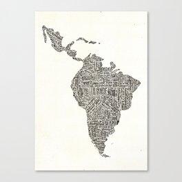 latinoamerica Canvas Print